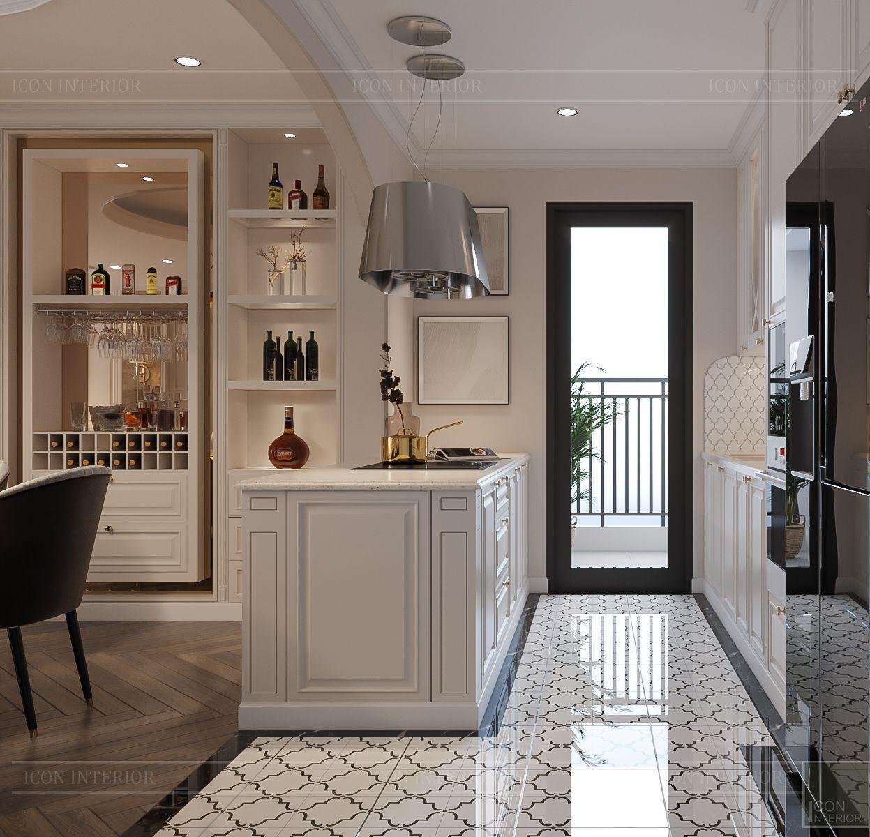 Nội thất căn hộ Hà Đô Centrosa - phòng bếp