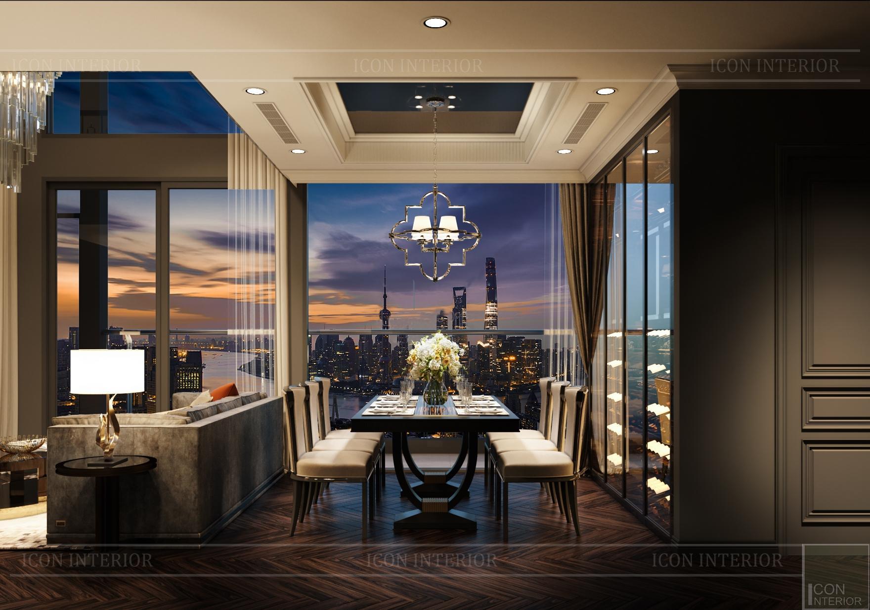penthouse kingdom 101 - bàn ghế ăn