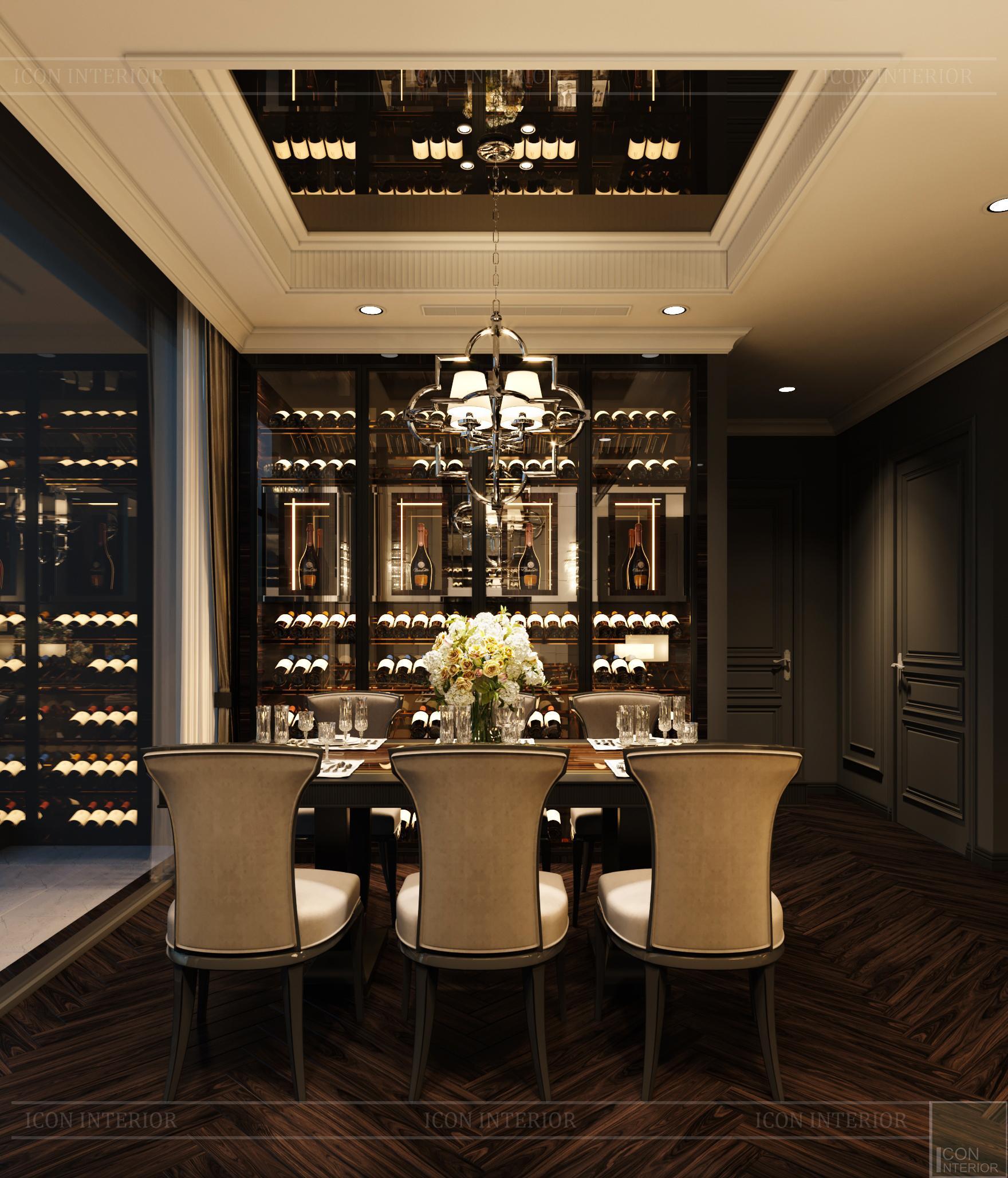 thiết kế căn hộ penthouse kingdom 101 - phòng bếp