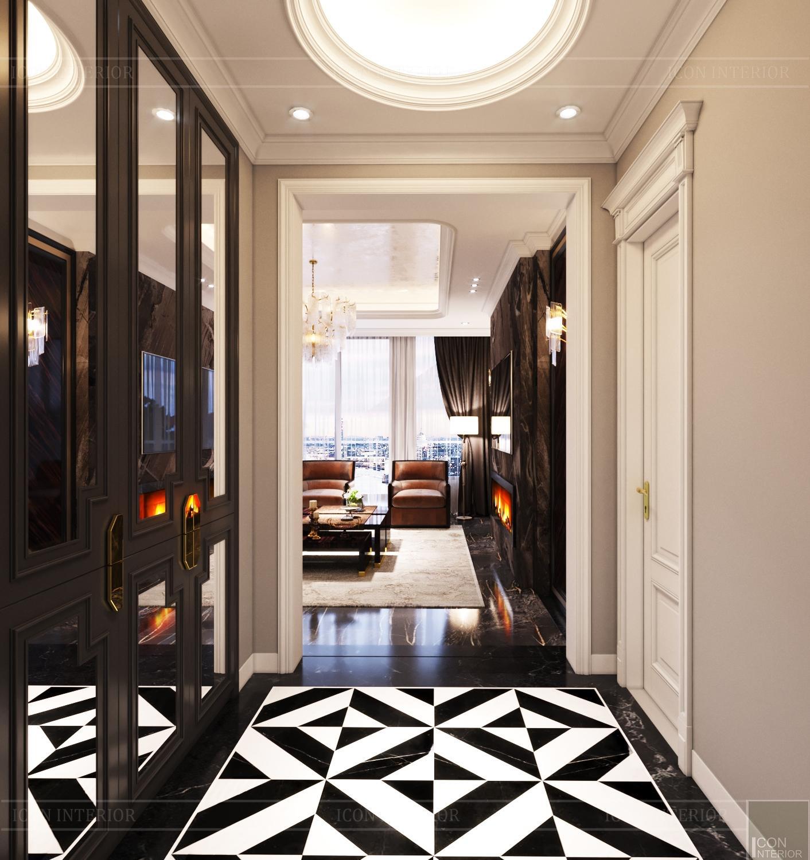 Thiết kế căn hộ Feliz En Vista Tân cổ điển