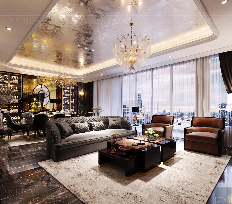 Nội thất phòng khách căn hộ chung cư