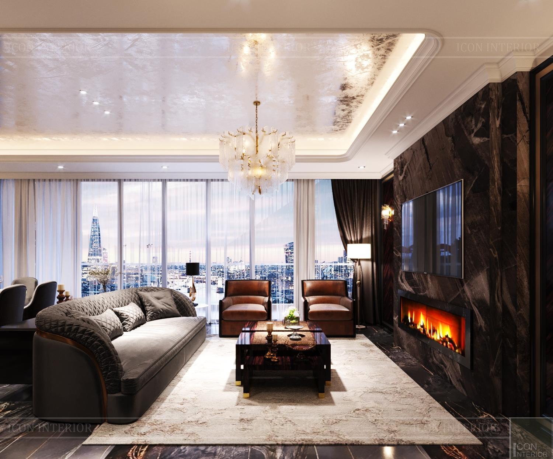 Thiết kế nội thất căn hộ Feliz En Vista - phòng khách