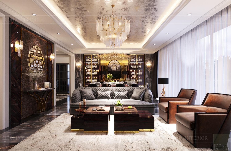 Bộ sofa Tân cổ điển tại căn hộ Feliz En Vista