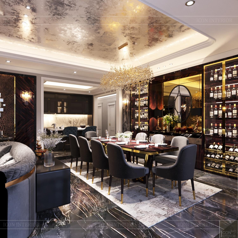 Thiết kế nội thất căn hộ Feliz En Vista - phòng bếp