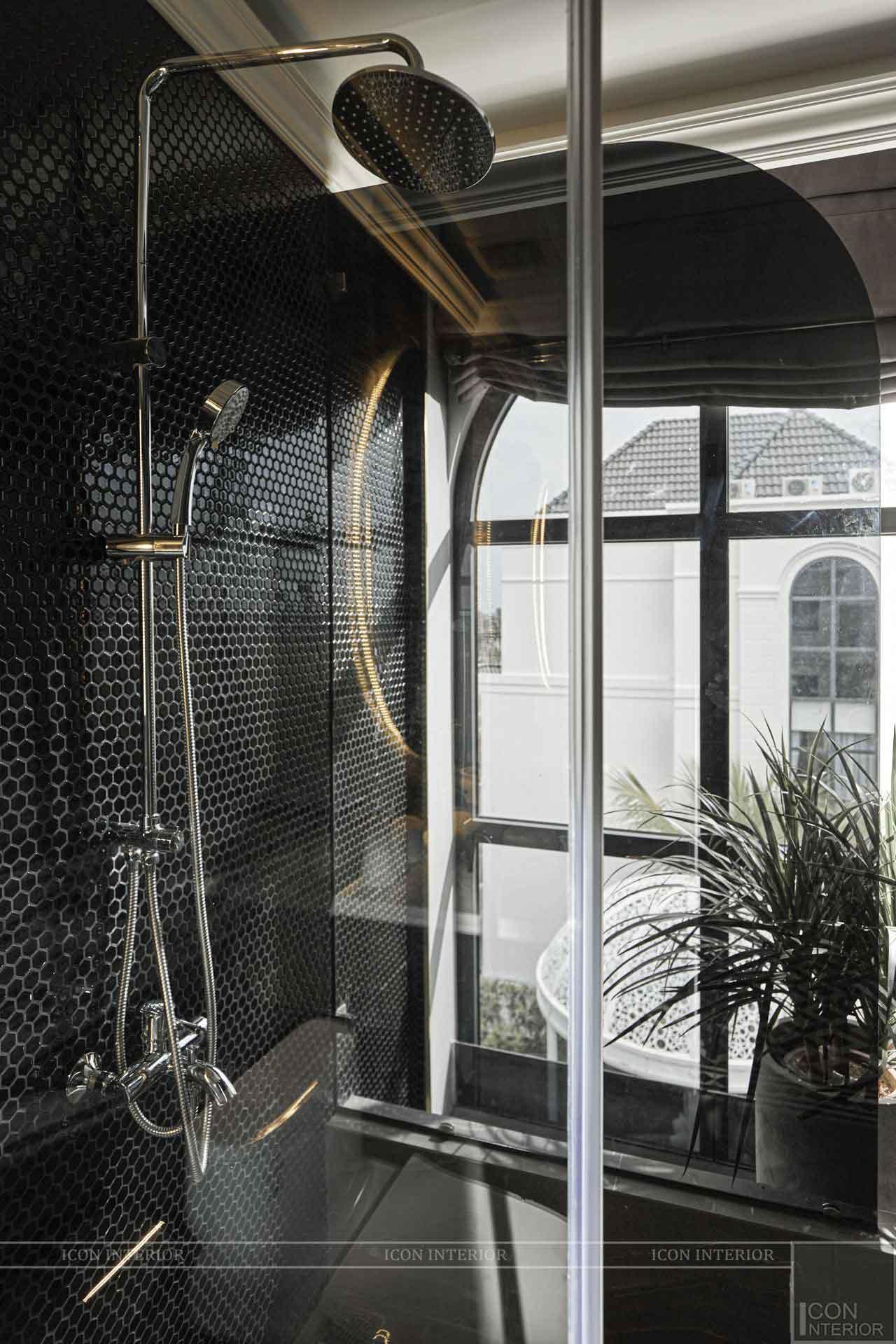 thi công nhà tắm biệt thự phong cách đông dương
