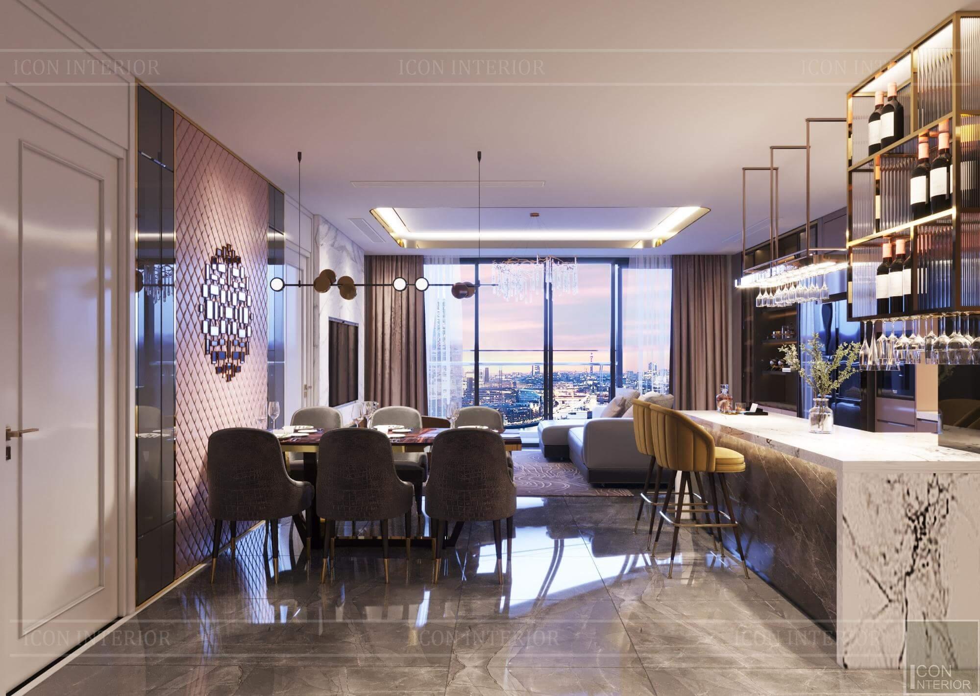 Thiết kế nội thất căn hộ Vinhomes BaSon Ms.TINA - khu vực ăn