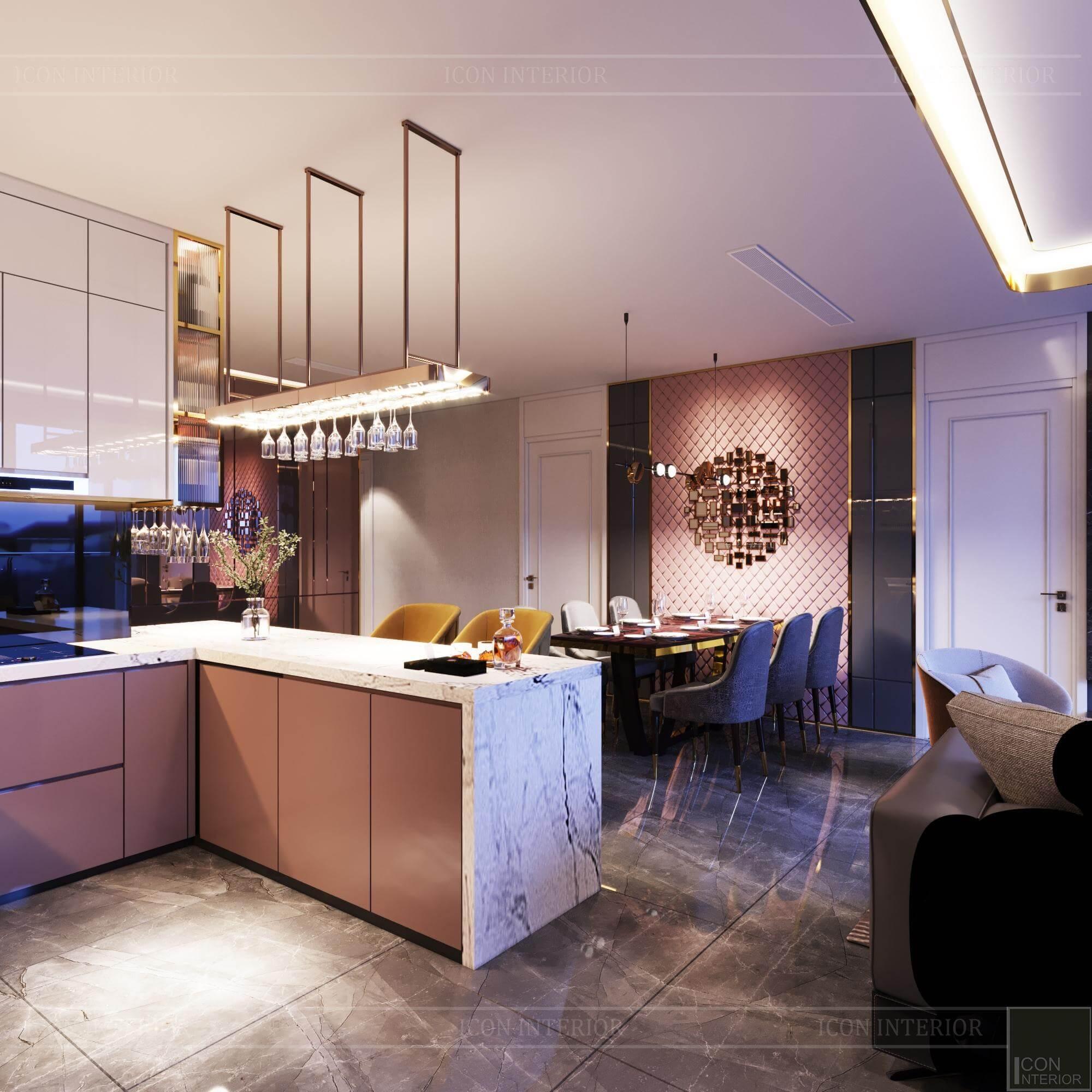 Thiết kế nội thất căn hộ Vinhomes BaSon Ms.TINA - bếp