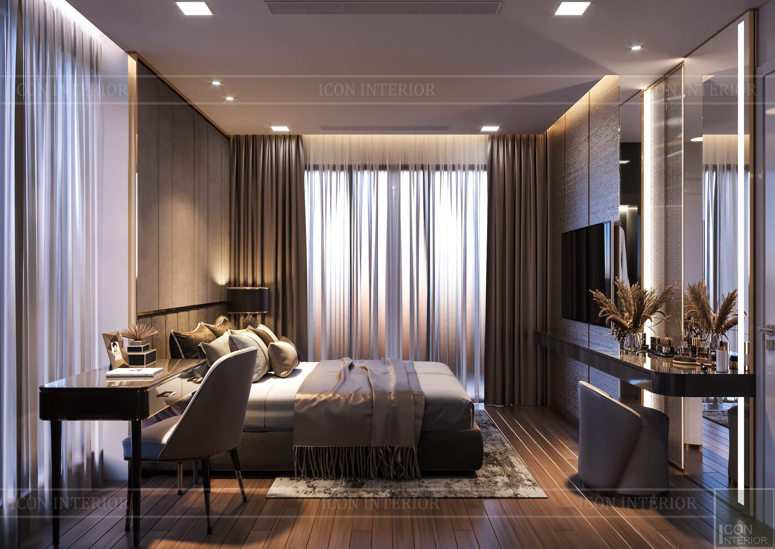 Thiết kế nội thất căn hộ Vinhomes BaSon Ms.TINA - phòng ngủ master