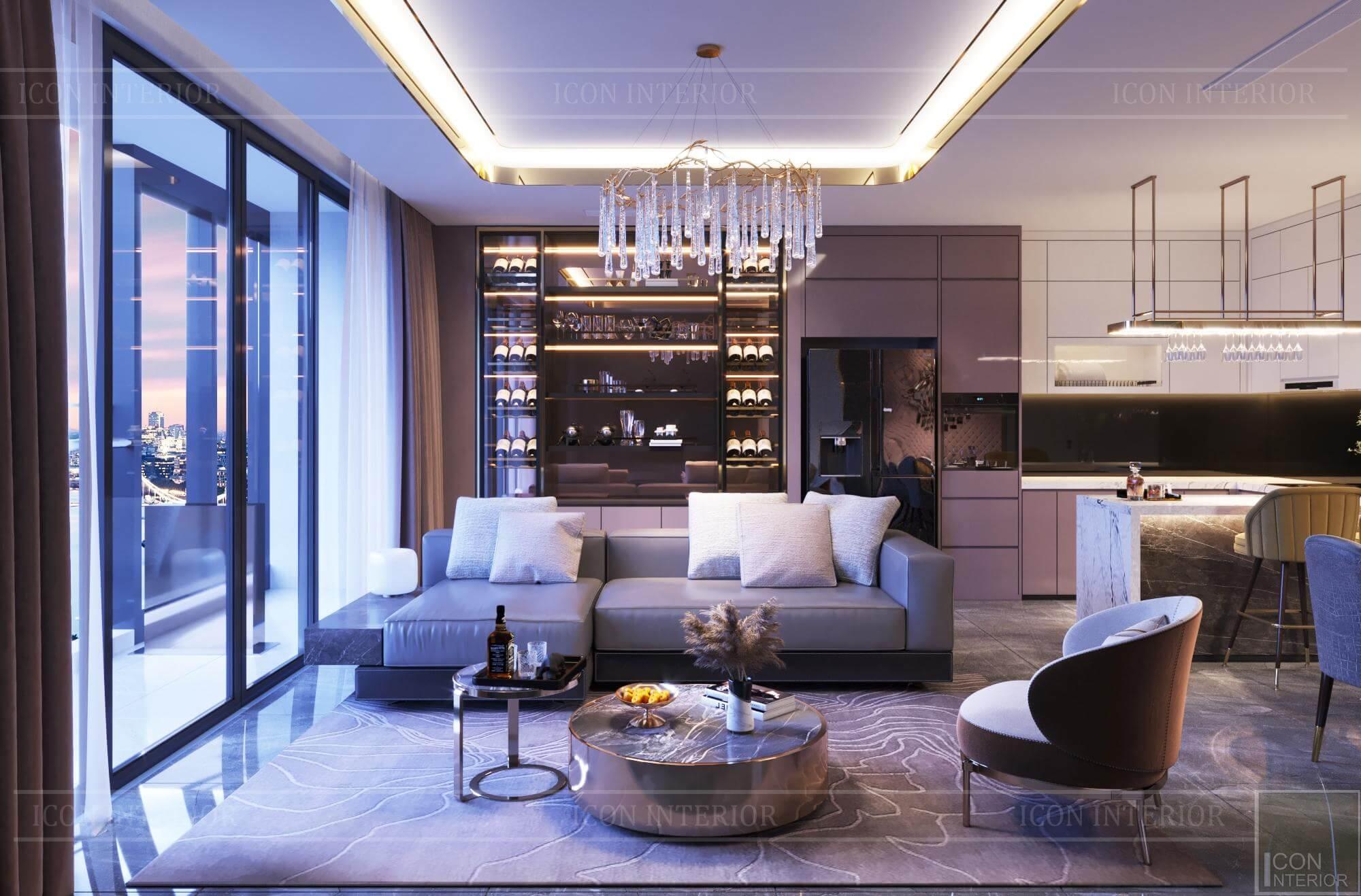 Thiết kế nội thất căn hộ Vinhomes BaSon Ms.TINA - phòng khách