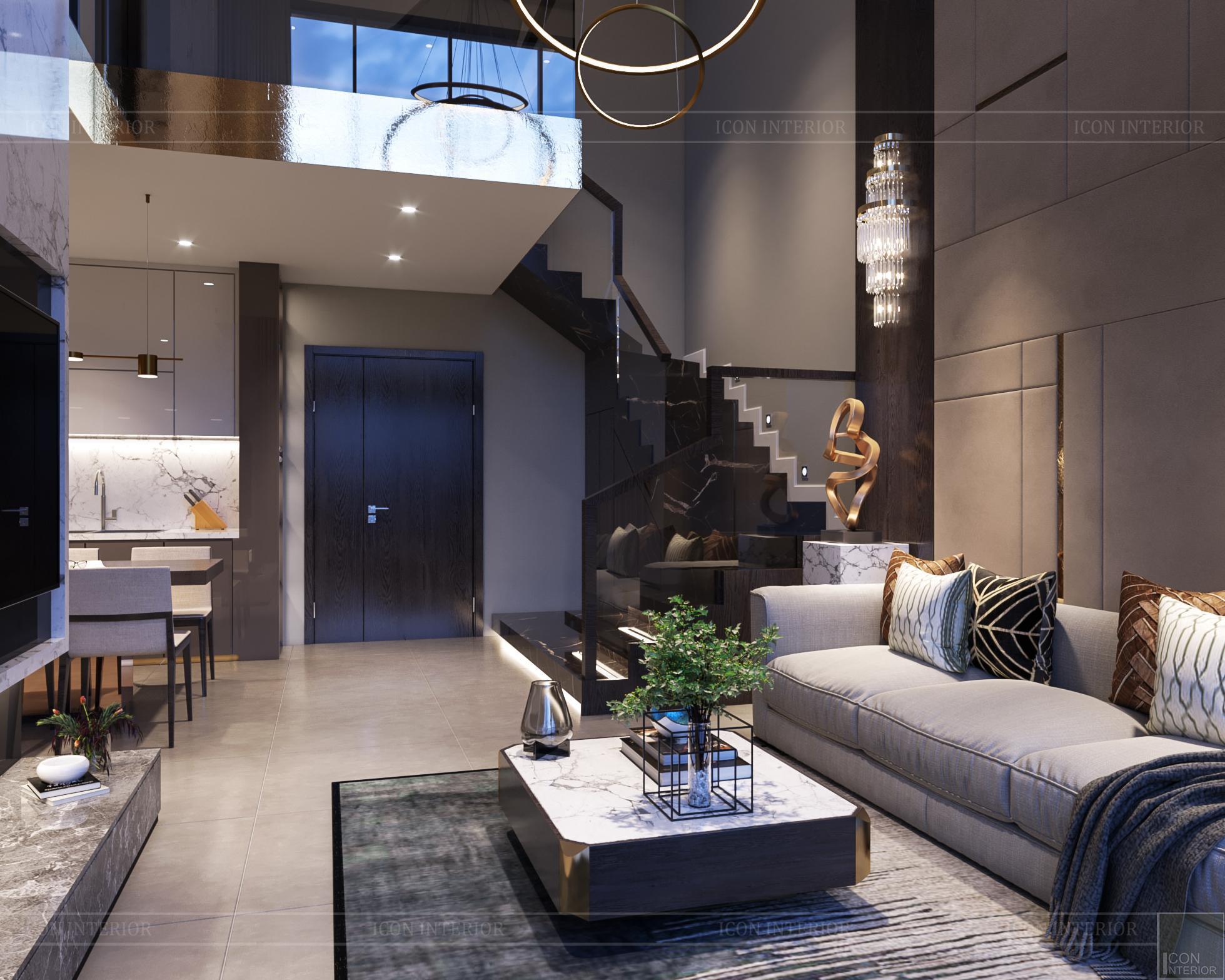 Thiết kế nội thất nhà mẫu phú đông sky garden 3