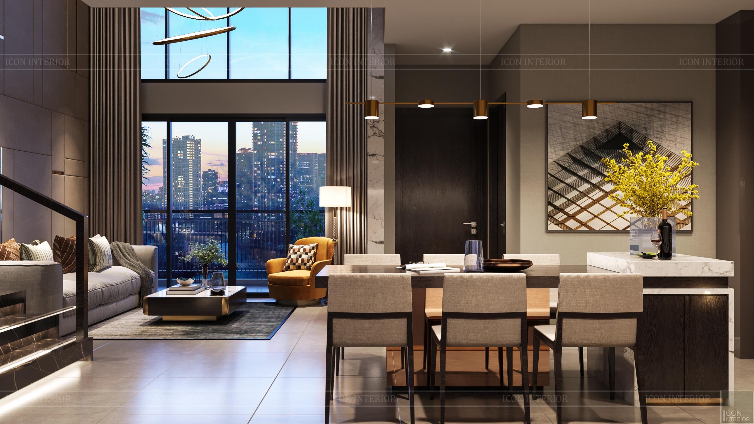 Thiết kế nội thất nhà mẫu phú đông sky garden 4