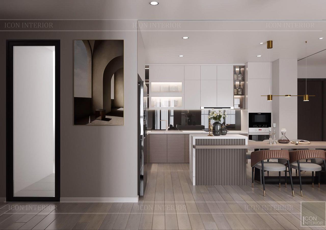 Thiết kế nội thất căn hộ Feliz En Vista ms.Hà B.17.10 - bếp
