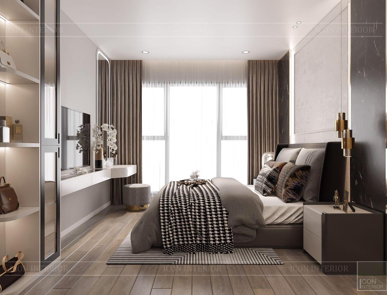 Thiết kế nội thất căn hộ Feliz En Vista ms.Hà B.17.10 - phòng ngủ master