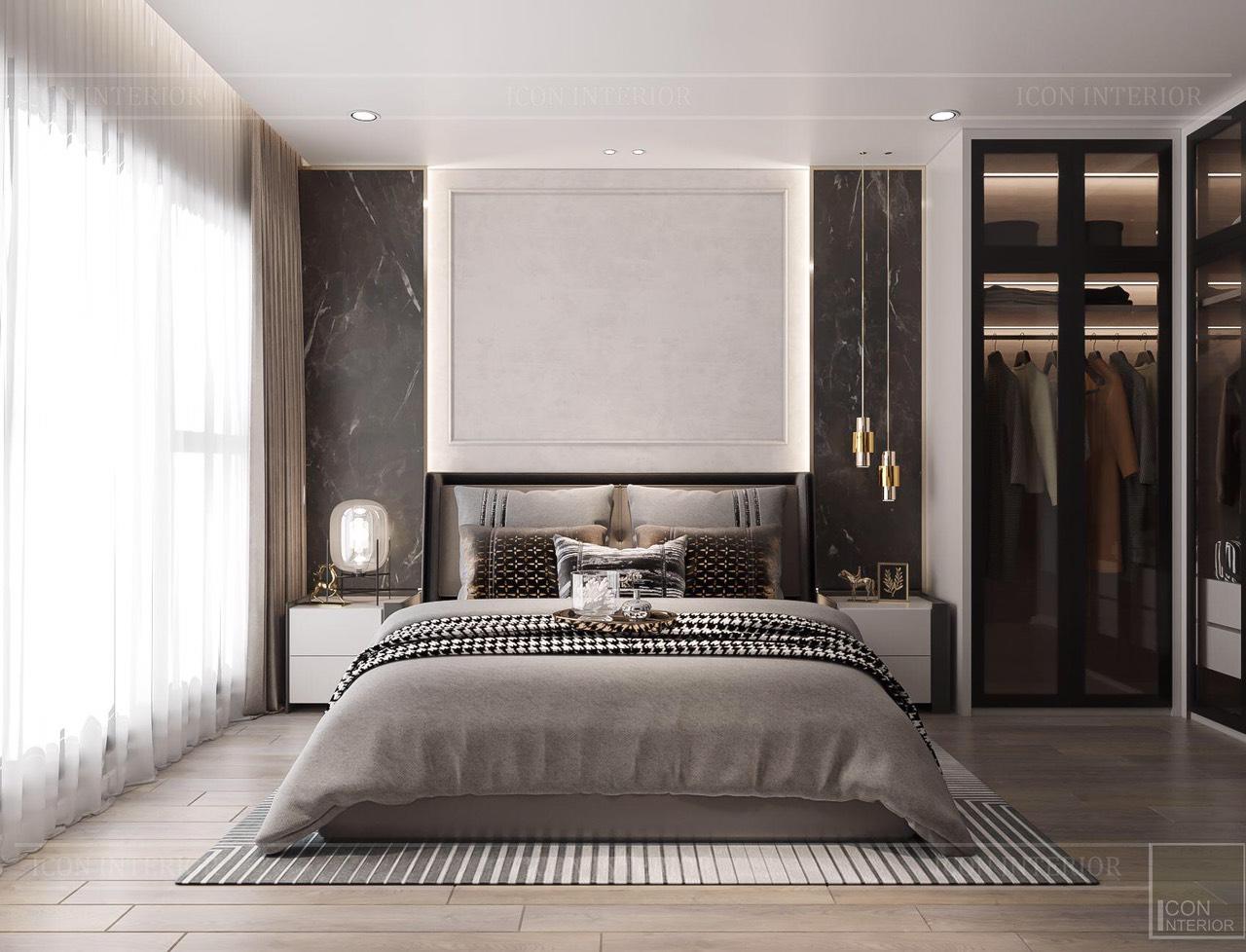 Thiết kế nội thất căn hộ Feliz En Vista ms.Hà B.17.10 - phòng ngủ