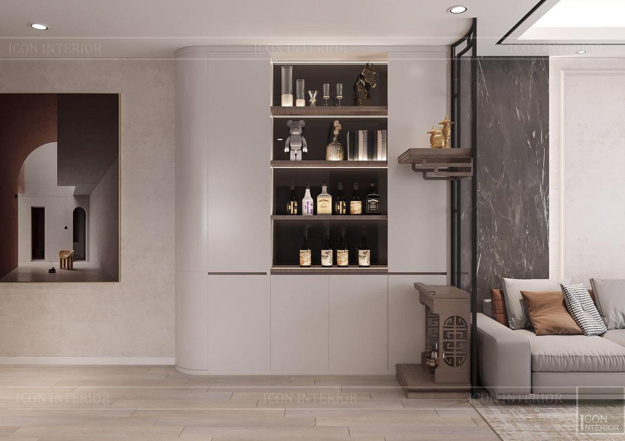 Thiết kế nội thất căn hộ Feliz En Vista ms.Hà B.17.10 - không gian phòng khách