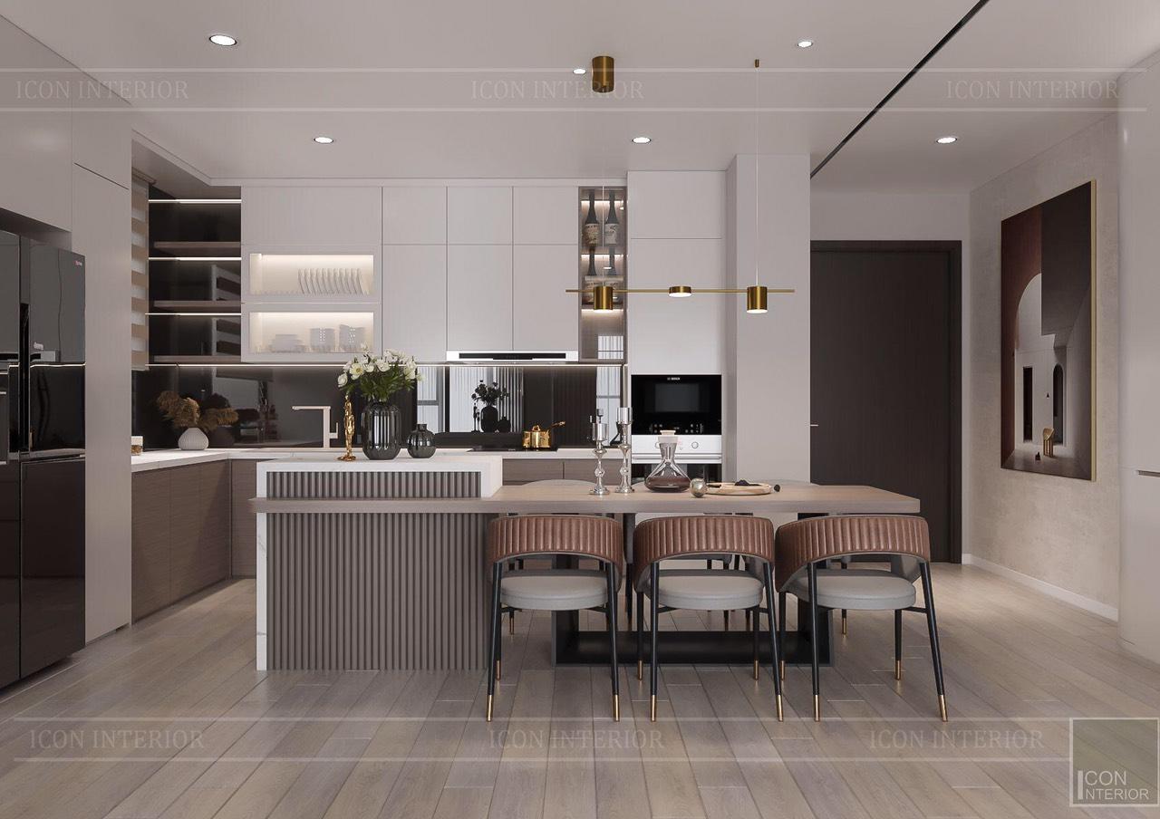 Thiết kế nội thất căn hộ Feliz En Vista ms.Hà B.17.10 - phòng bếp