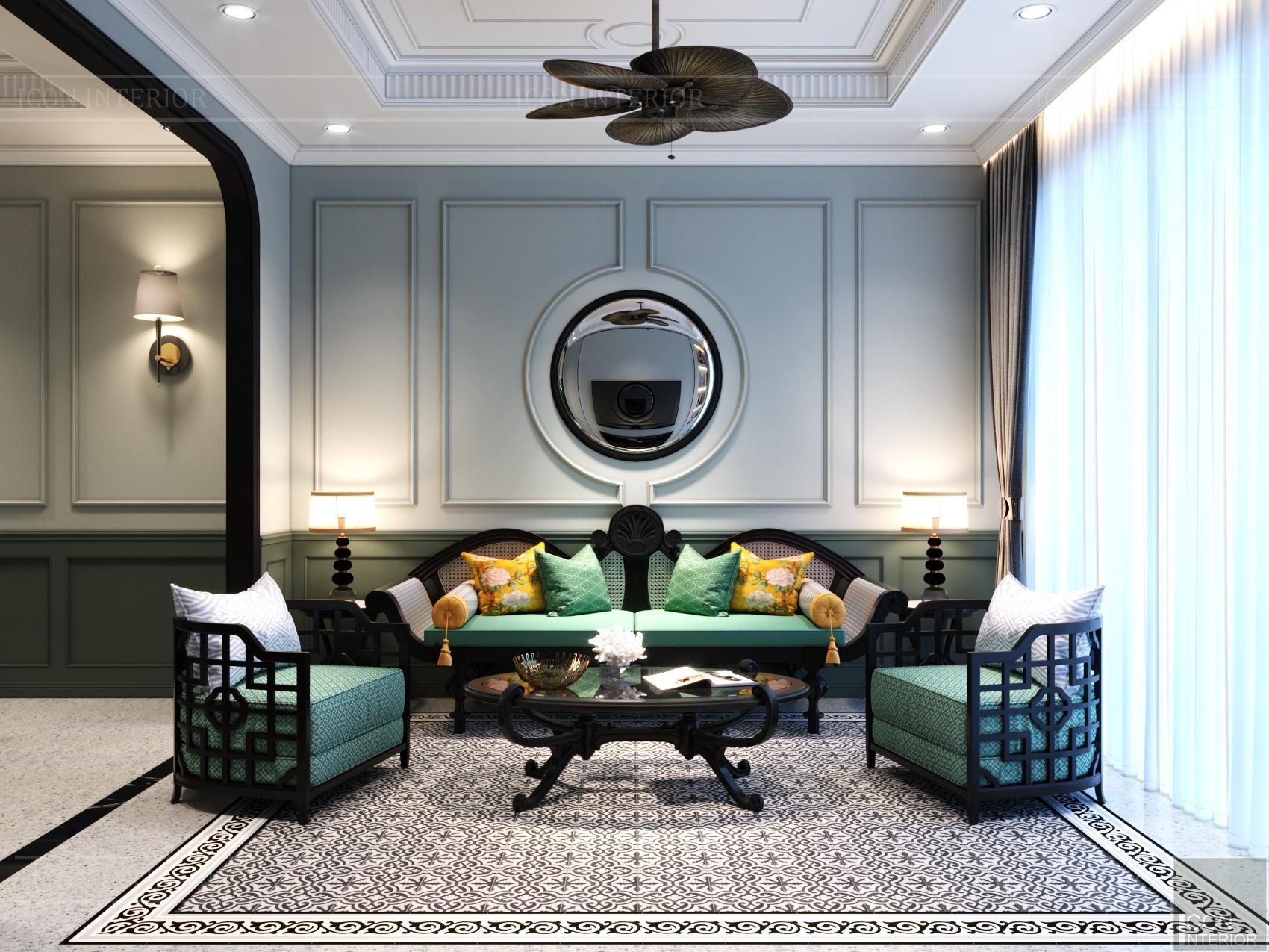 Thiết kế nội thất nhà phố đẹp theo phong cách Đông Dương đẹp