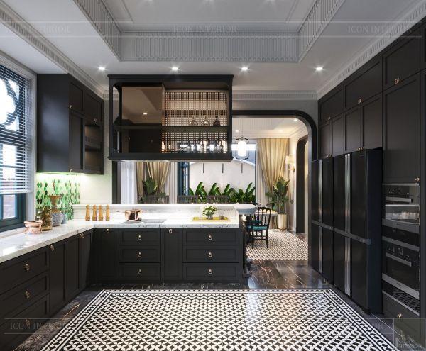 Thiết kế nội thất phòng bếp biệt thự quận 7