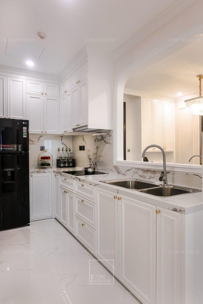 Tủ bếp căn hộ nhỏ