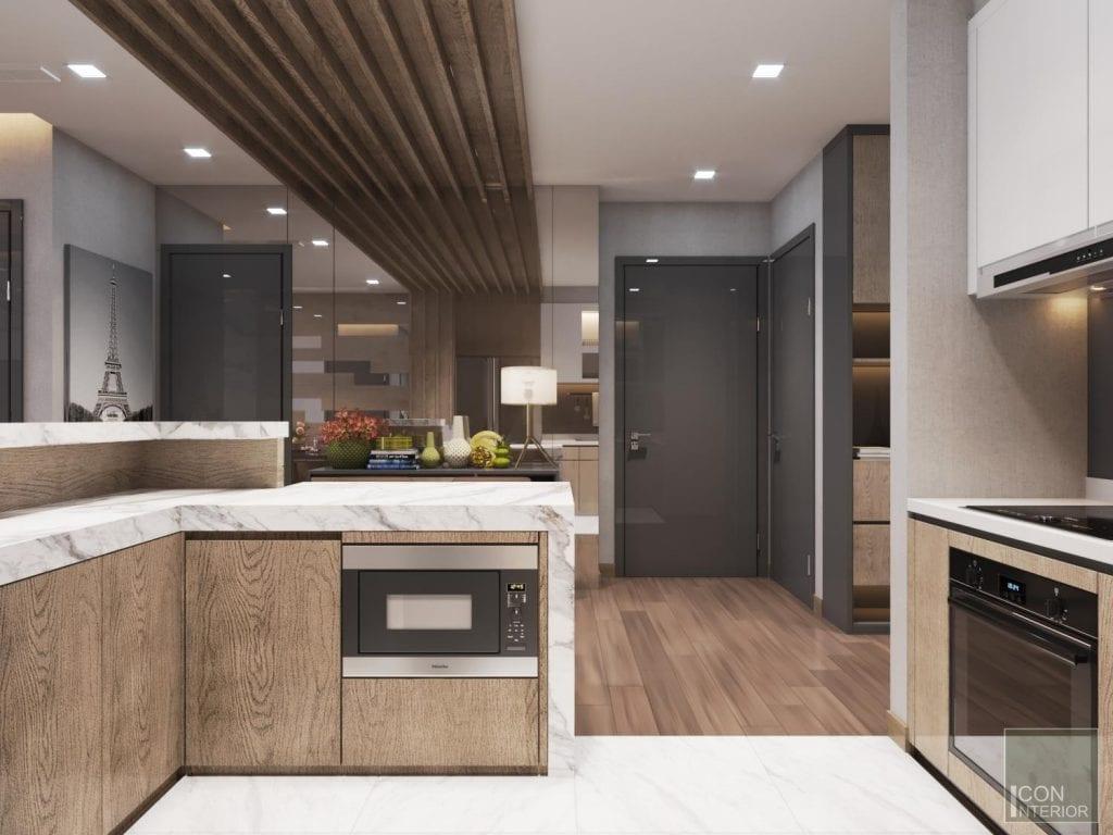 Thiết kế tủ bếp mdf đẹp mọi góc nhìn
