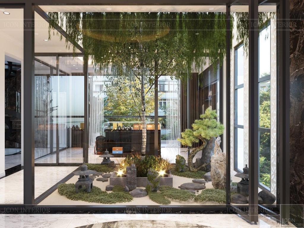 Tiểu sảnh thiên nhiên được đưa vào thiết kế mở