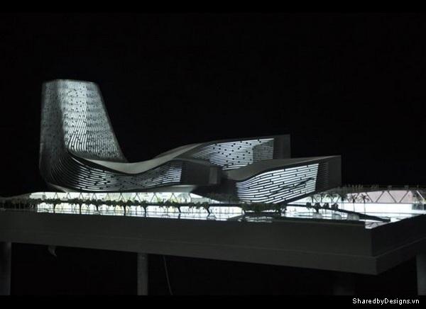 Cảng Cao Hùng, Đài Loan mô phỏng kiến trúc Parametric