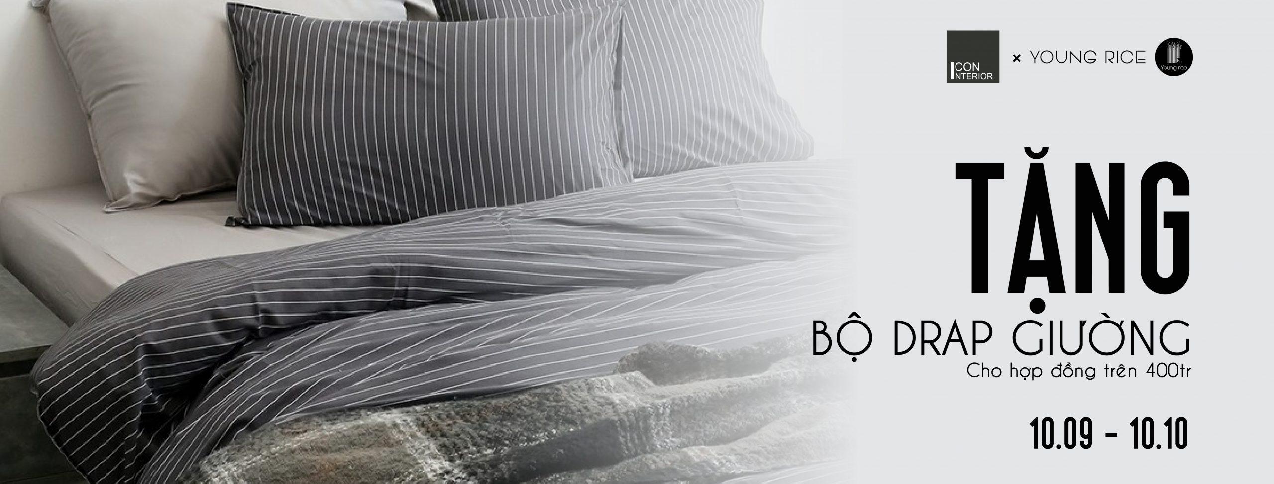 Tặng drap giường