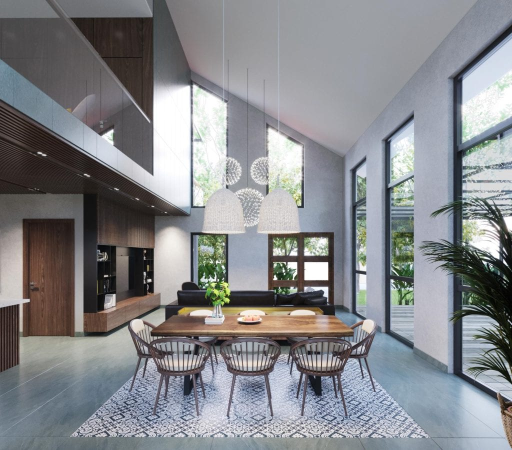 Tối ưu nguồn ánh sáng tự nhiên trong thiết kế không gian mở
