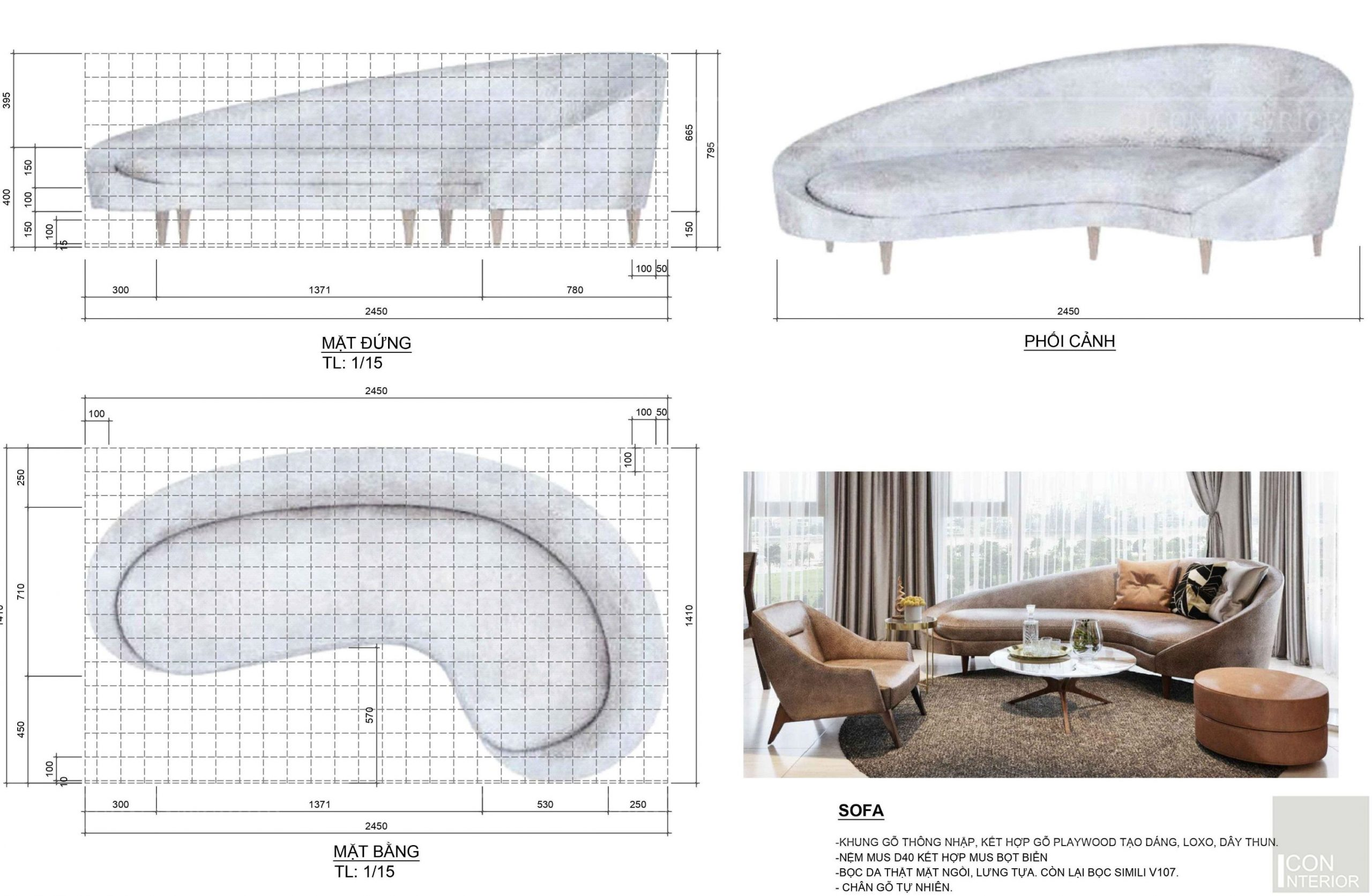 Kích thước tiêu chuẩn của đồ nội thất