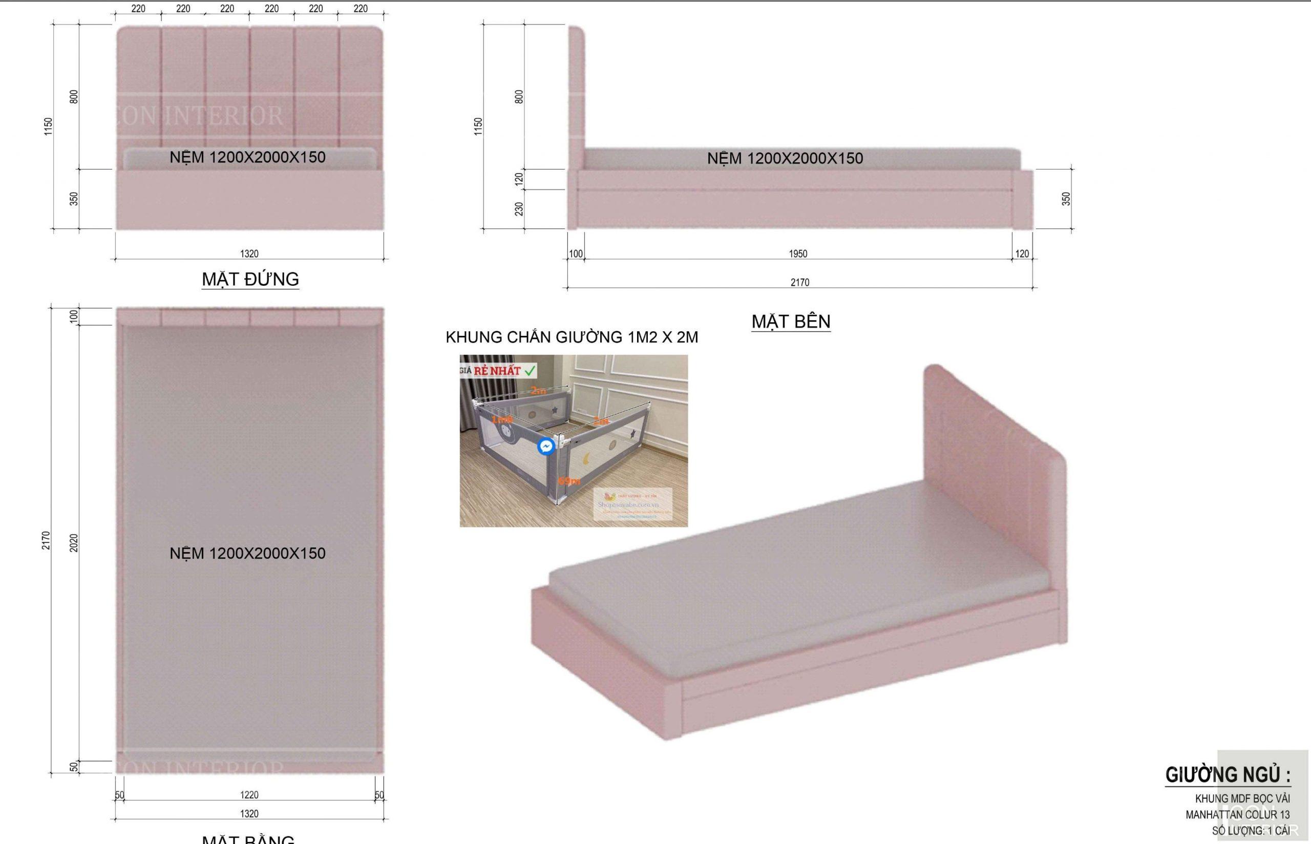 Kích thước tiêu chuẩn của đồ nội thất 1