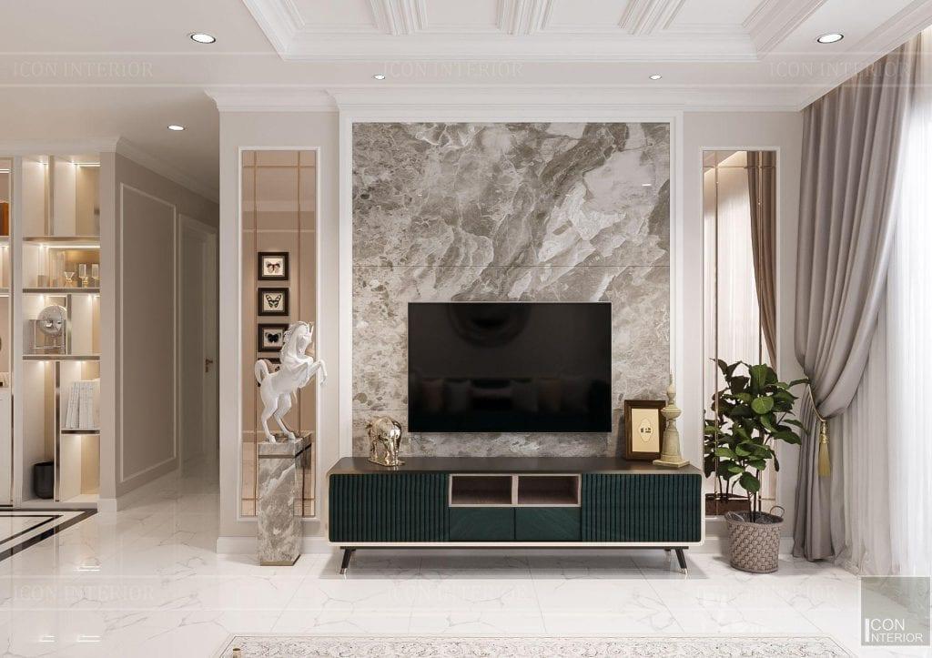 Kích thước kệ gỗ tivi sang trọng phong cách hiện đại