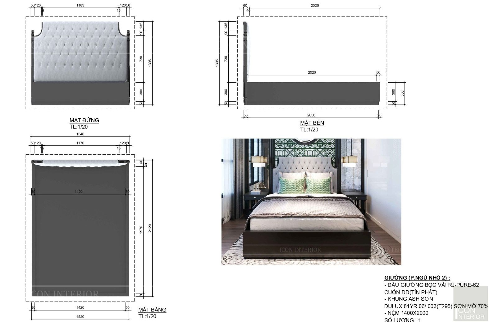 Kích thước tiêu chuẩn của đồ nội thất 3