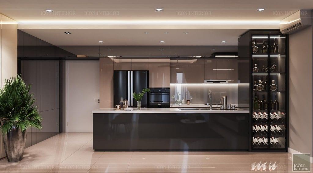 Kích thước tủ bếp chuẩn đối xứng