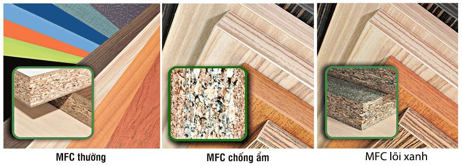 Các loại lõi tủ bếp MFC