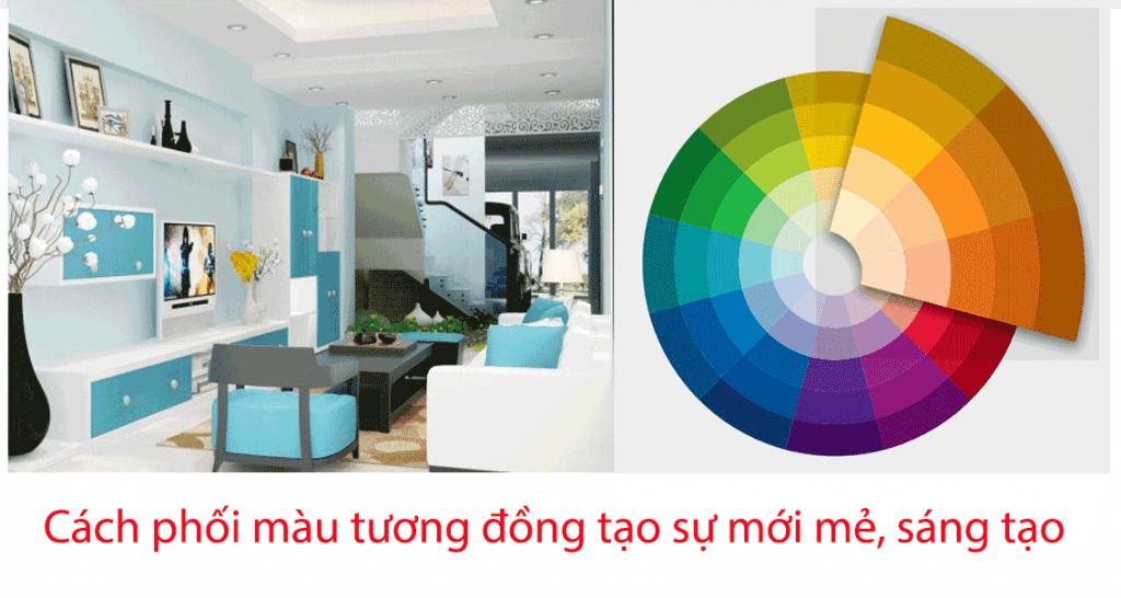 Phương pháp phối màu tương đồng sinh động