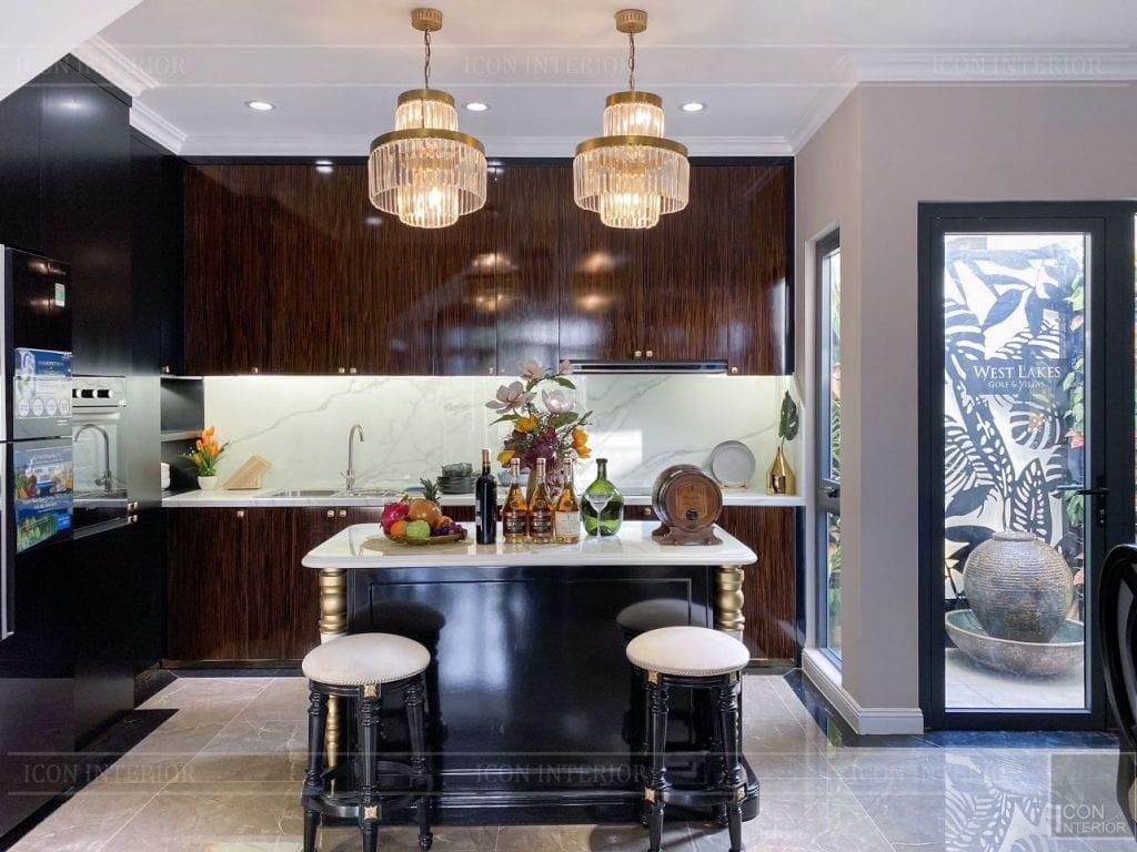 Mẫu tủ bếp chung cư đẹp hoàn hảo