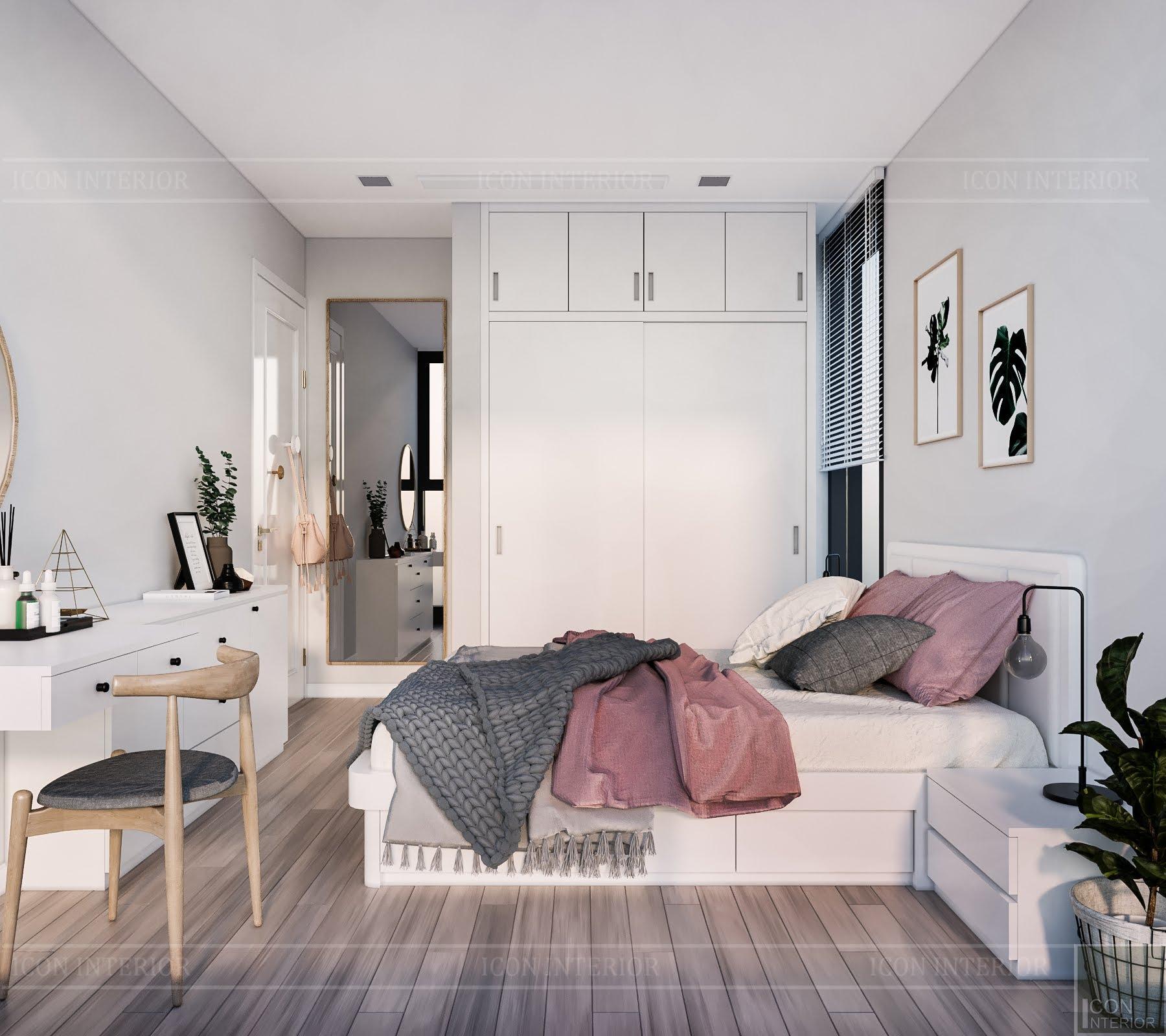 Phòng ngủ phong cách thiết kế Scandinavian tông màu nhã nhặn