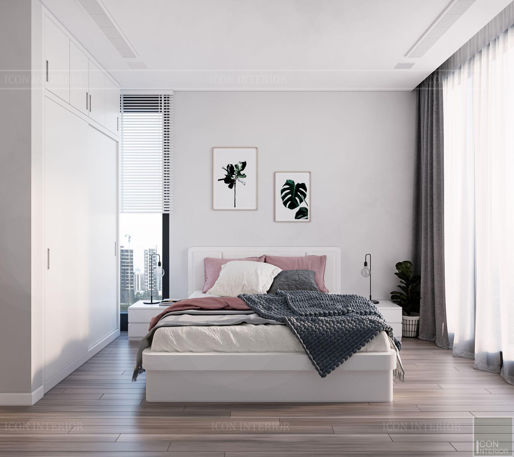 Phòng ngủ Bắc Âu đơn giản, tiện nghi