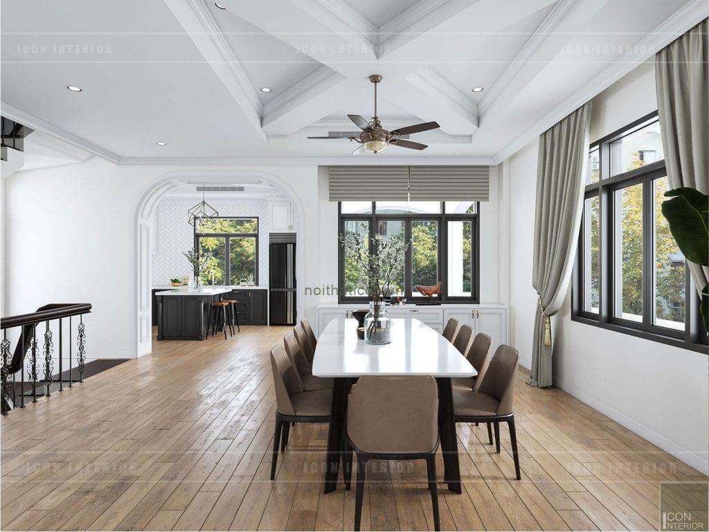 Thiết kế không gian phòng bếp phong cách kiến trúc mở