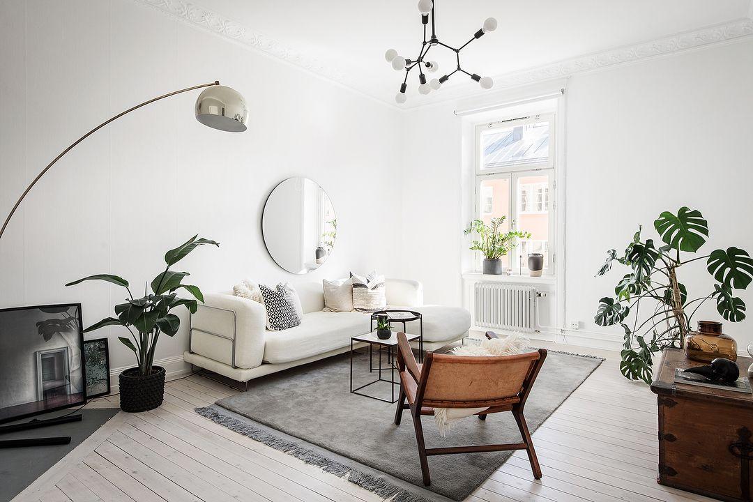 Phong cách Scandinavian tông màu trắng