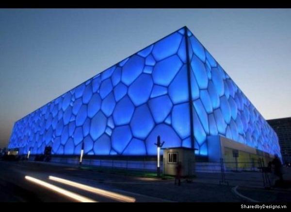 Trung tâm thể thao dưới nước mang dáng vẻ hình học trong thiết kế Parametric