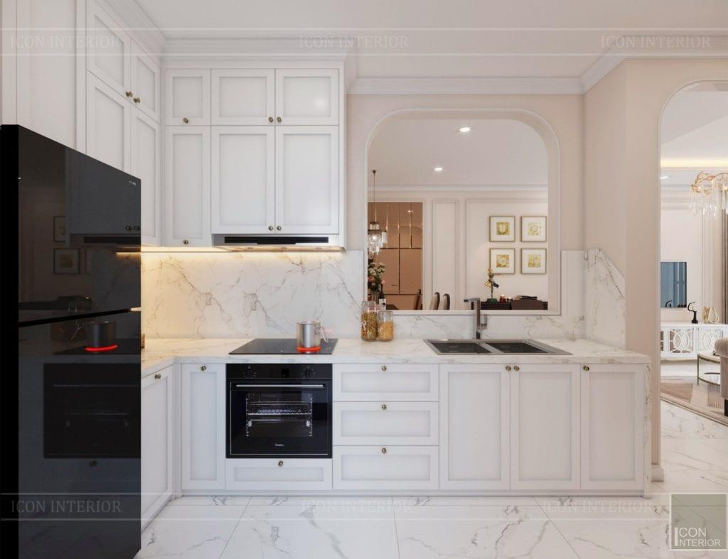 tủ bếp chung cư 60m2