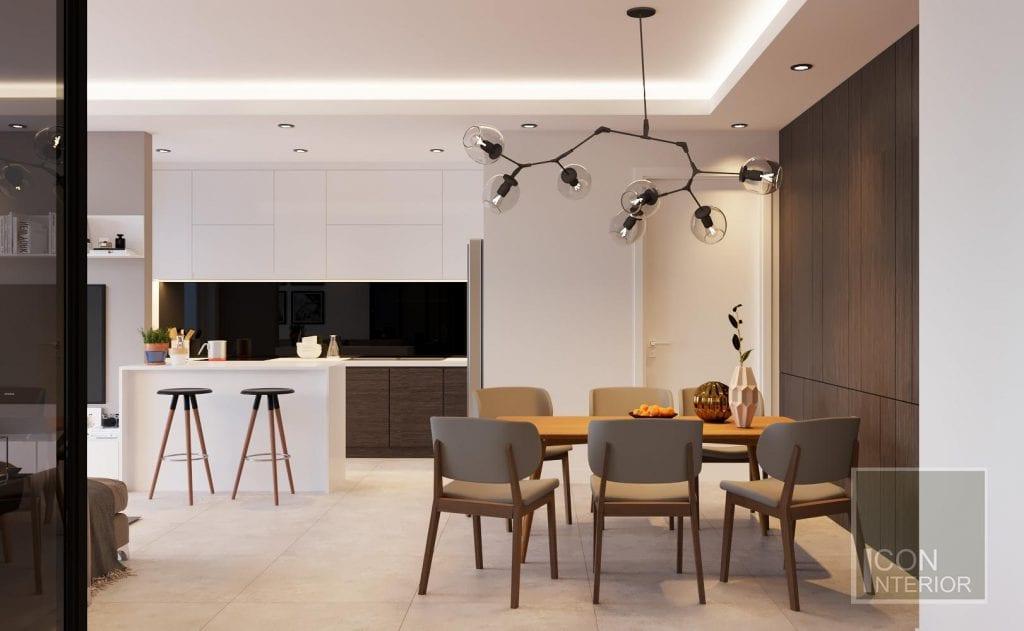 Thiết kế tủ bếp mdf cho chung cư diện tích nhỏ