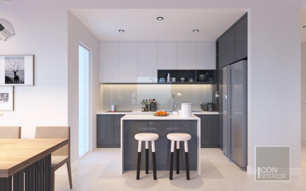 Tủ bếp MFC phong cách hiện đại