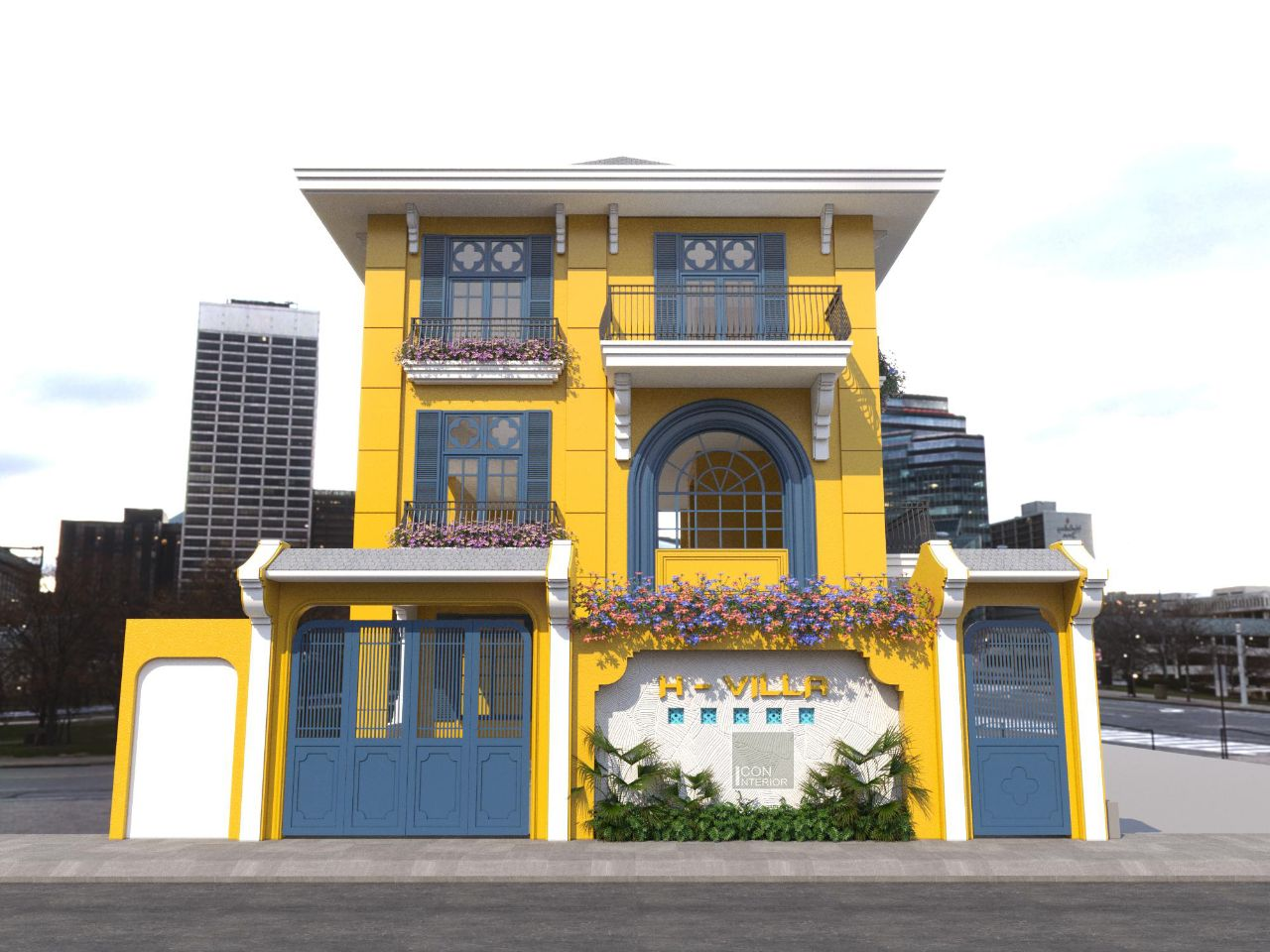 Thiết kế nội thất biệt thự Phú Mỹ Hưng 650m2 Ms. Hoa phong cách Indochine