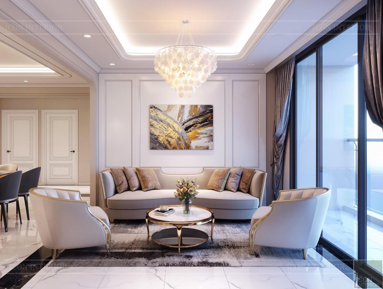 Thiết kế nội thất căn hộ Sunrise City 147m2
