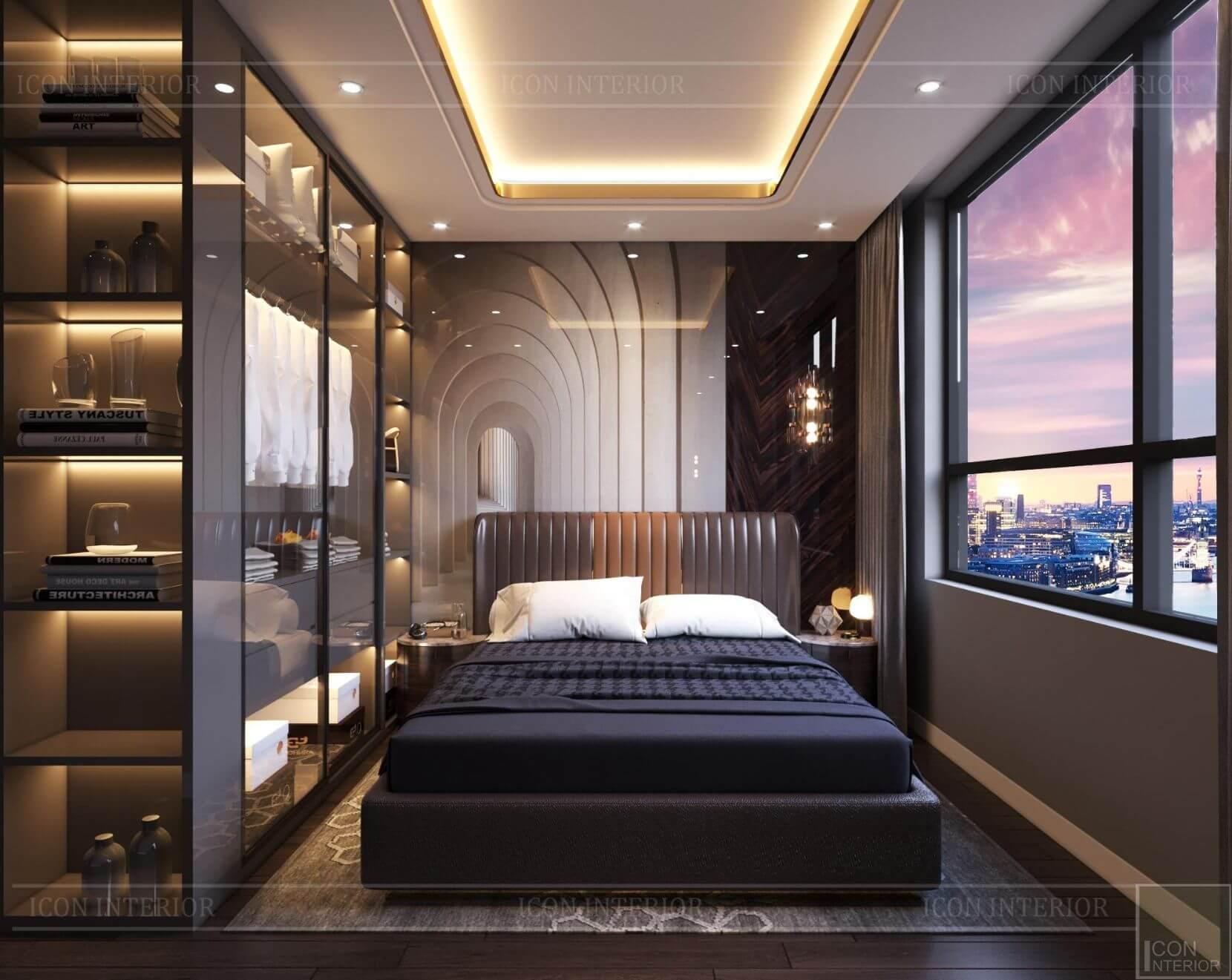 Thiết kế phòng ngủ chung cư 70m2 2 phòng ngủ