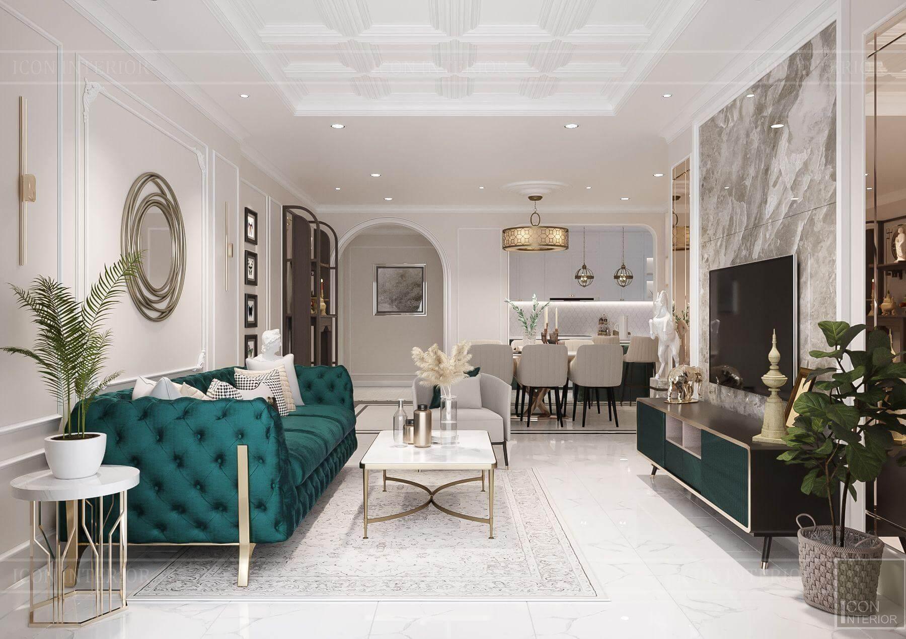 Thiết kế nội thất căn hộ Hado Centrosa 139m2 Mr.Toàn