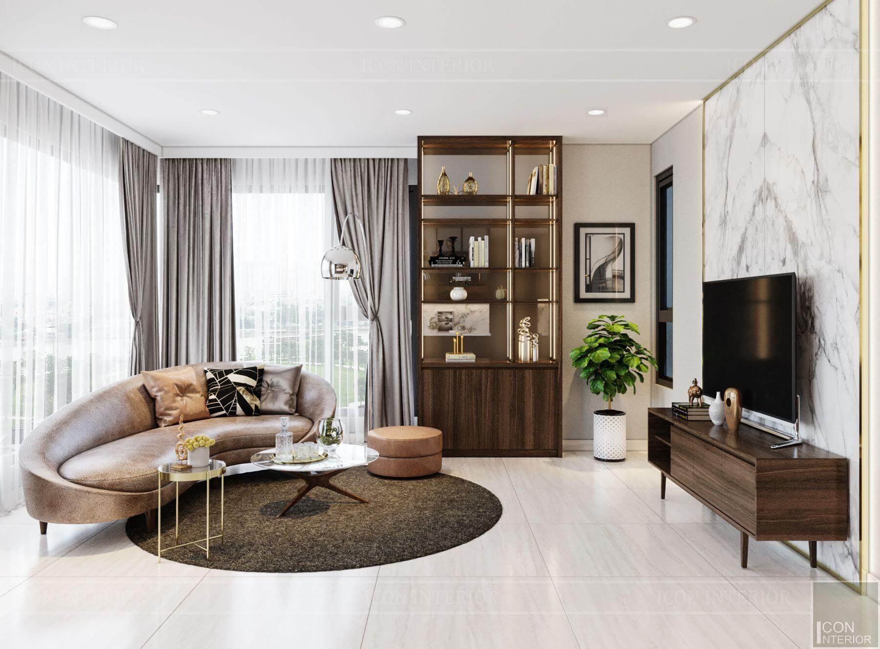 Thiết kế nội thất căn hộ Kingdom 101 90m2 Mr.Thang