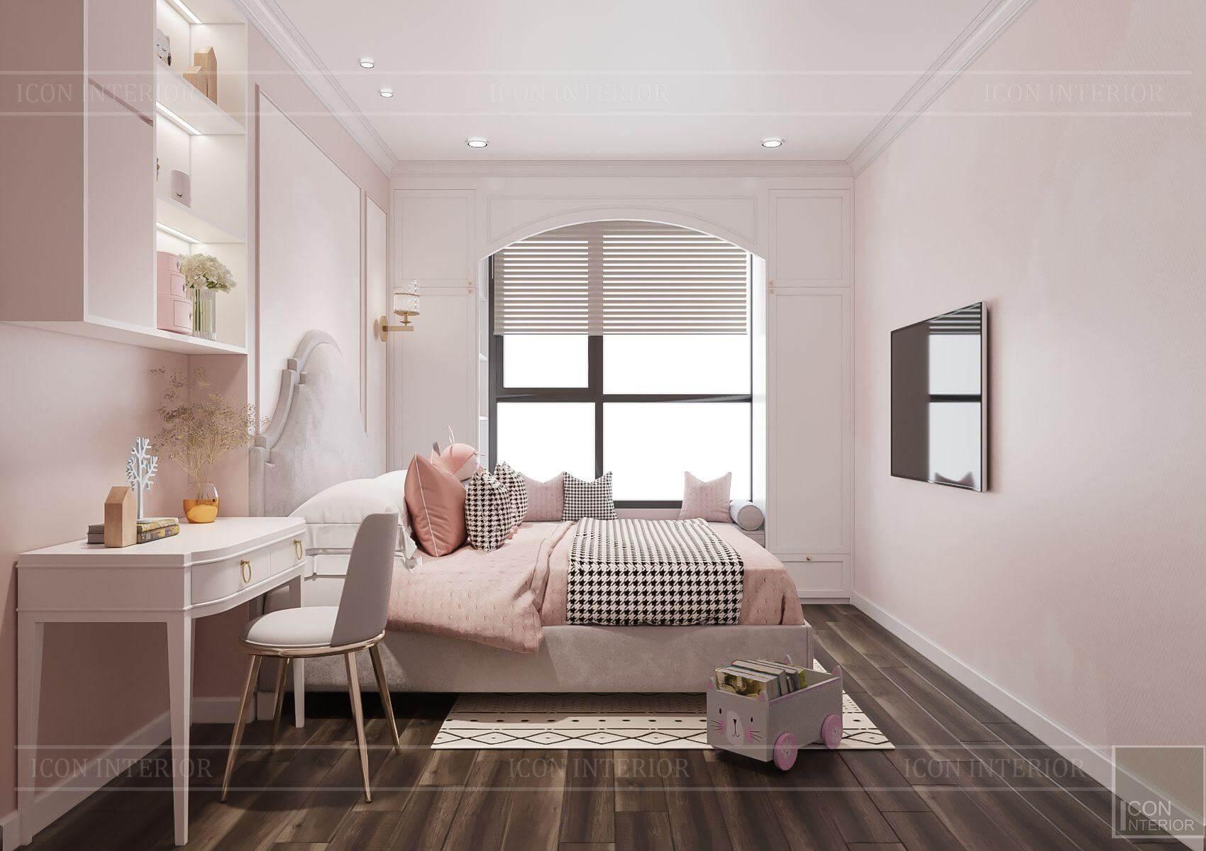 Thiết kế phòng ngủ trẻ em căn hộ Hado Centrosa 3PN